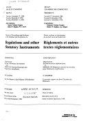 Minutes of Proceedings and Evidence of the Standing Joint Committee on Regulations and Other Statutory Instruments Procès-verbaux Et Témoignages Du Comité Mixte Permanent Des Règlements Et Autres Textes Règlementaires
