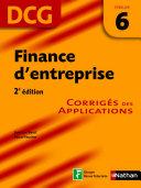 Finance d entreprise     preuve 6   DCG corrig  s