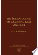 An Introduction to Classical Real Analysis