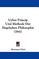illustration du livre Ueber Princip Und Methode Der Hegelschen Philosophie (1841)