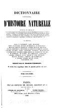 Dictionnaire universel d'histoire naturelle - tome 7 (J-MAR)