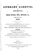 Book The London Literary Gazette and Journal of Belles Lettres, Arts, Sciences, Etc