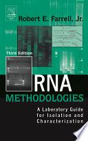 Rna Methodologies book