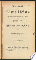 Gesangstexte zu Simplicius