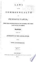 Laws Of The Commonwealth Of Pennsylvania : ...