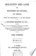 Bulletin des lois de la R  publique Fran  aise