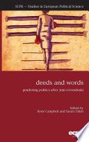 Deeds and Words