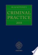 Blackstone s Criminal Practice 2018
