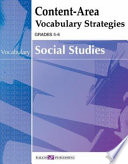 Content Area Vocabulary Strategies for Social Studies