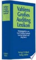 Vahlens gro  es Auditing Lexikon