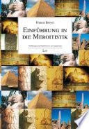 Einführung in die Meroitistik