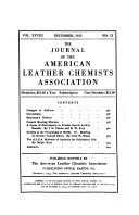 The Journal of the American Leather Chemists Association