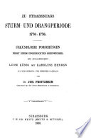 Beiträge zur Landes- und Volkeskunde von Elsass-Lothringen und den Angren Enden Gebieten
