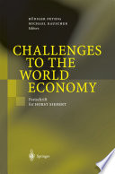 Challenges To The World Economy : of the honoree and it does so in...