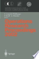 Operations Research Proceedings 2002 book