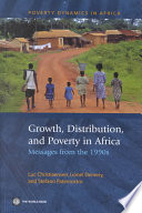Growth, Distribution and Poverty in Africa