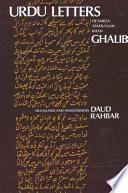 Urdu Letters of Mirza Asadu'llah Khan Ghalib