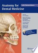 Anatomy for Dental Medicine  Latin Nomenclature