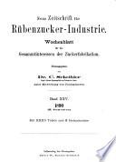 Neue Zeitschrift für Rübenzucker-Industrie