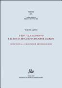 L'epistola a Erodoto e il Bios di Epicuro in Diogene Laerzio. Note testuali, esegetiche e metodologiche