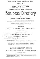 Boyd s Co partnership and Residence Business Directory of Philadelphia City