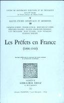 Les Préfets en France 1800-1940