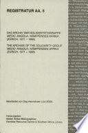 Das Archiv Der Solidaritätsgruppe Medic' Angola, Kämpfendes Afrika (Zürich, 1971 - 1988)