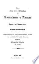 Ueber einige neue Abkömmlinge des Phenanthrens und Fluorens