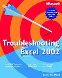 Troubleshooting Microsoft Excel 2002