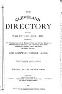The Cleveland Directory Company's Cleveland City Directory