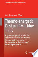 Thermo energetic Design of Machine Tools