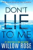 Don t Lie to Me Book PDF