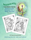 Mermaid Coloring Book   Featuring the Mermaid Art of Molly Harrison
