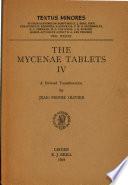 The Mycenae Tablets Iv