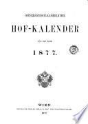 Österreichisch- kaiserliches Hof- Kalender für das Jahr...