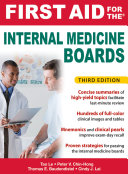 First Aid for the Internal Medicine Boards  3rd Edition