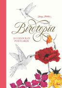 Birdtopia: 20 Color-In Postcards