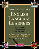Literacy Instruction for English Language Learners You Order The Literacy Instruction