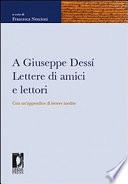 A Giuseppe Dessí