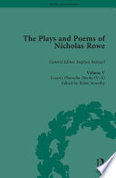 The Plays and Poems of Nicholas Rowe  Volume V
