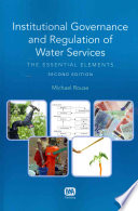 Institutional Governance And Regulation Of Water Services Second Edition book