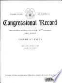 Congressional Record  V  147  Pt  6  May 9  2001 to May 21 2001