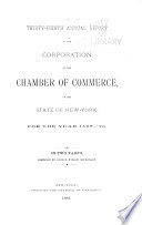 Annual Report Of The Chamber Of Commerce Of The State Of New York For The Year  book
