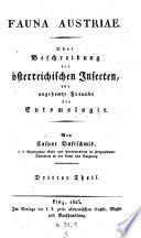 Fauna Austriae, oder Beschreibung der österreichischen Insecten