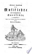 Kleines Handbuch der Musiklehre und vorz  glich der Querfl  te