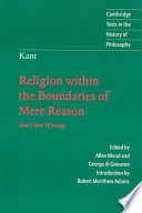Kant  Religion Within the Boundaries of Mere Reason