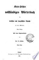 Vollst  ndiges w  rterbuch der deutschen und franz  sischen sprache