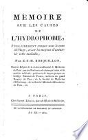 Mémoire sur les causes de l'hydrophobie