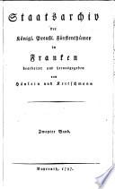 Staatsarchiv der königl.-preuß. Fürstenthümer in Franken