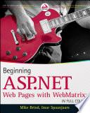 Beginning ASP NET Web Pages with WebMatrix